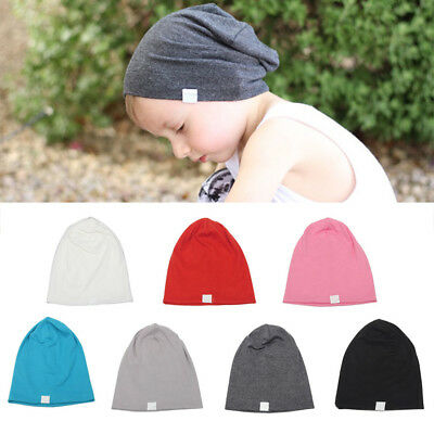 KE_ Baby Infant Kids Boy Girl Warm Cotton Knit Hat Crochet Slouch Beanie Cap S