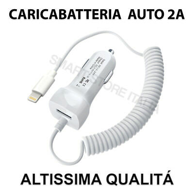 Carica Batteria da Auto per Apple iPhone Lightning 8PIN 5 6 7 8 Plus X TOP 2.1A