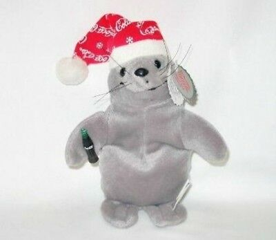 Coca Cola Plush Seal in Snowflake Cap 0147 Beanie New With Tag
