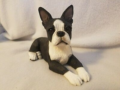 Boston Terrier - Lying down - Medium Figurine