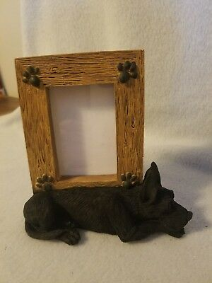 """Great Dane - Black - picture frame - holds one 2.5"""" x 3.5"""" picture"""