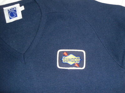 Vintage Sunoco Acrylic Sweater Uniform Gas Station Attendant MAde in USA