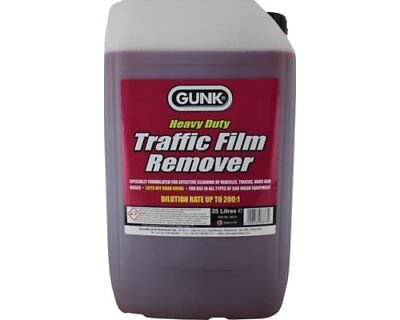 GUNK TFR HEAVY DUTY TRAFFIC FILM REMOVER 25 LITRE 200:1 Concentrate 25L 6873 RED
