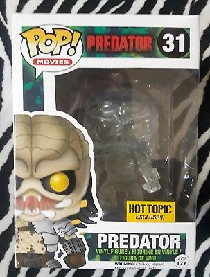 2014 Funko Pop Movies Predator #31 Hot Topic Exclusive Clear Bloody Figure Mib