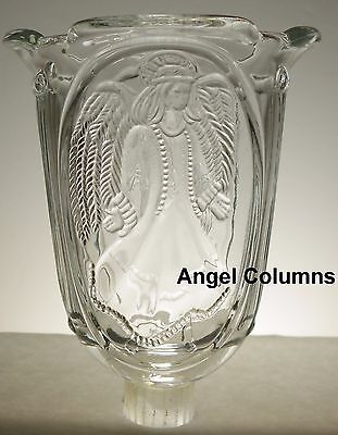 Home Interiors Clear Angel Columns Votive Cup w/ rubber grommet