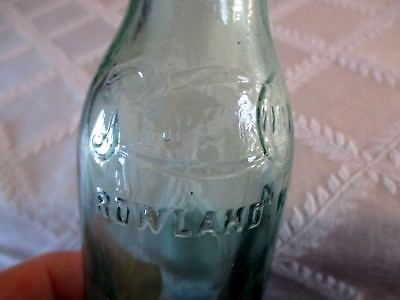 Pepsi Cola Rowland.n.c Script Glass Soda Bottle-Exc ++ Double Dot- Must See