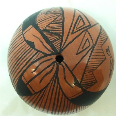 Vintage Southwestern Pueblo Native American Indian Pottery Seed Pot Chinnana