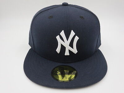 612bd4929937c New York Yankees Navy 5950 New Era Fitted MLB Retro Vintage Baseball Hat Cap