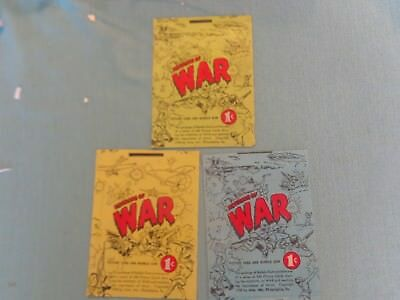 3 1930s Horror of War Bubble Chewing Gum Wrappers