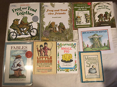 lot FROG AND TOAD lot of 9 ARNOLD LOBEL Together FRIEND All Year DAYS Small Pig