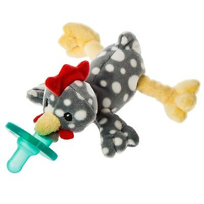 Mary Meyer Wubbanub Soft Toy and Pacifier, Rocky Chicken