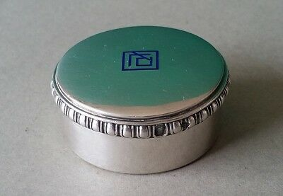 ANTIQUE French Paris by J. Gruhier Sterling Silver 1897 enamel Snuff Pill box