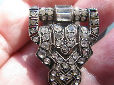 antique Paris France 800 silver paste dress or fur clip post -1838.
