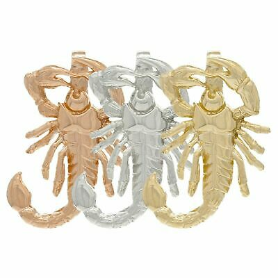 14K Gold Scorpion Pendant Scorpio Insect (Available in Yellow,White & Rose Gold)