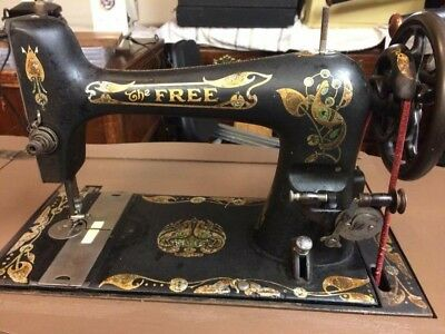 """The Free"" by Westinghouse Antique Treadle Sewing Machine, Works"