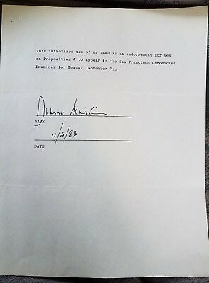 Dianne Feinstein signed political document as Mayor of San Francisco