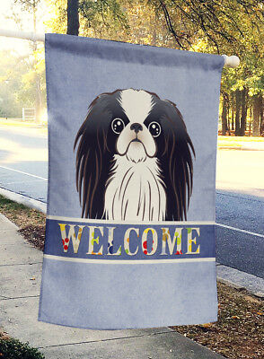 Carolines Treasures  BB1416CHF Japanese Chin Welcome Flag Canvas House Size
