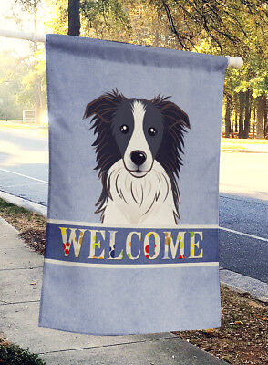 Carolines Treasures  BB1427CHF Border Collie Welcome Flag Canvas House Size