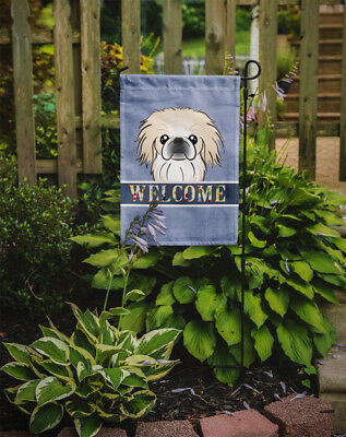 Carolines Treasures  BB1407GF Pekingese Welcome Flag Garden Size