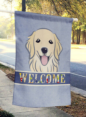 Carolines Treasures  BB1391CHF Golden Retriever Welcome Flag Canvas House Size