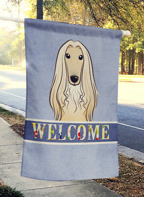 Carolines Treasures  BB1430CHF Afghan Hound Welcome Flag Canvas House Size