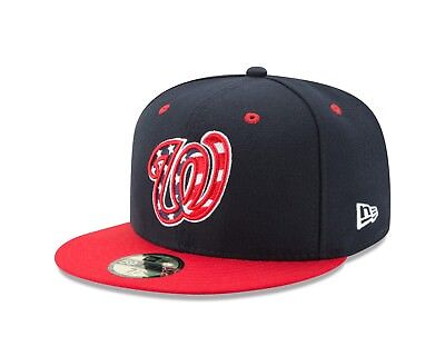 75eb3279733 New Era Washington Nationals Blue Authentic 59FIFTY Performance Fitted Hat
