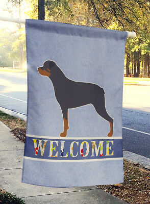 Carolines Treasures  BB5570CHF Rottweiler Welcome Flag Canvas House Size