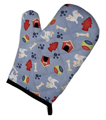 Dog House Collection Longhair Pied Chihuahua Oven Mitt