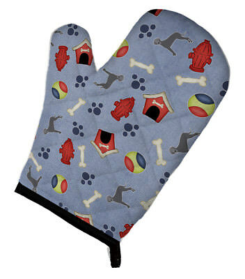 Dog House Collection Blue Natural Great Dane Oven Mitt