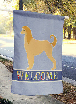 Carolines Treasures  BB5510CHF Afghan Hound Welcome Flag Canvas House Size