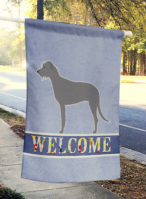 Carolines Treasures  BB5507CHF Irish Wolfhound Welcome Flag Canvas House Size