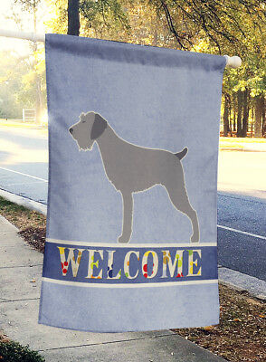 German Wirehaired Pointer Welcome Flag Canvas House Size