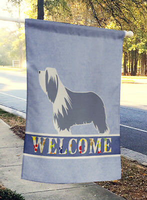 Carolines Treasures  BB5521CHF Bearded Collie Welcome Flag Canvas House Size
