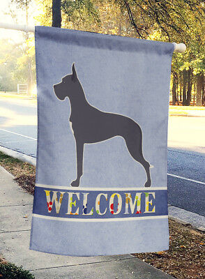 Carolines Treasures  BB5579CHF Great Dane Welcome Flag Canvas House Size