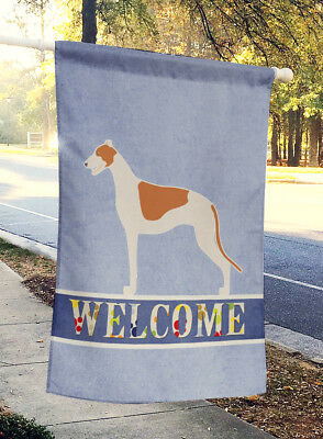 Carolines Treasures  BB5509CHF Greyhound Welcome Flag Canvas House Size
