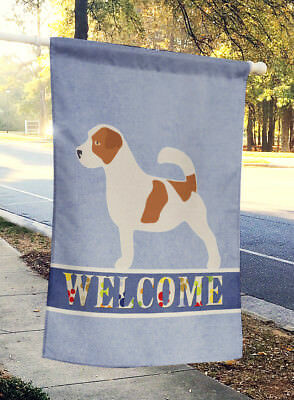 Jack Russell Terrier Welcome Flag Canvas House Size