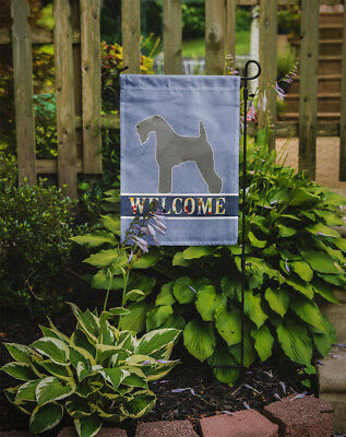 Carolines Treasures  BB5496GF Kerry Blue Terrier Welcome Flag Garden Size
