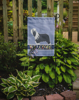 Carolines Treasures  BB5521GF Bearded Collie Welcome Flag Garden Size