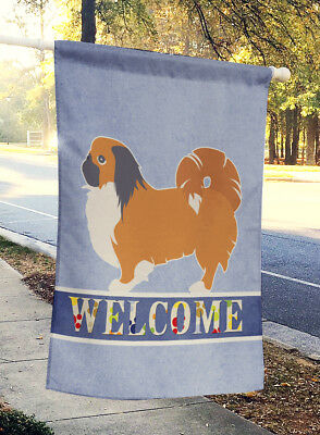 Carolines Treasures  BB5542CHF Pekingese Welcome Flag Canvas House Size