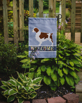 Carolines Treasures  BB5504GF Welsh Springer Spaniel Welcome Flag Garden Size