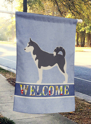 Carolines Treasures  BB5584CHF Siberian Husky Welcome Flag Canvas House Size