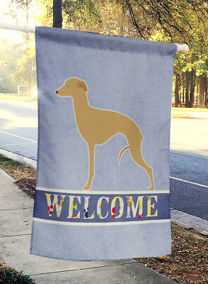 Carolines Treasures  BB5518CHF Italian Greyhound Welcome Flag Canvas House Size