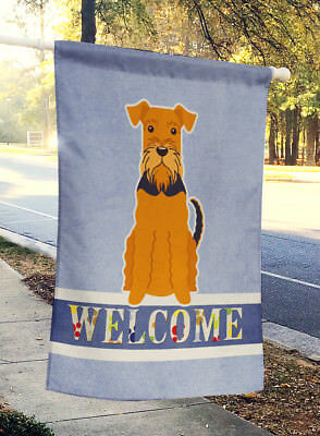 Carolines Treasures  BB5622CHF Airedale Welcome Flag Canvas House Size