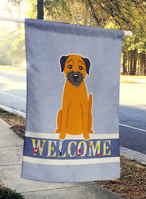 Carolines Treasures  BB5620CHF Border Terrier Welcome Flag Canvas House Size