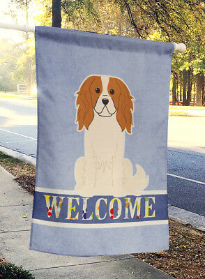 Carolines Treasures  BB5639CHF Cavalier Spaniel Welcome Flag Canvas House Size