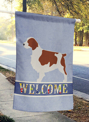 Welsh Springer Spaniel Welcome Flag Canvas House Size