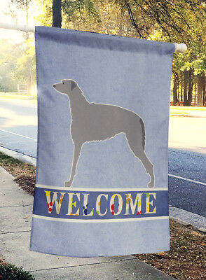 Carolines Treasures  BB5500CHF Scottish Deerhound Welcome Flag Canvas House Size
