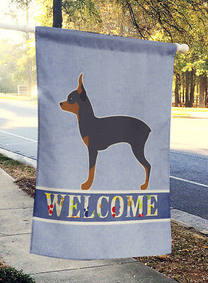 Carolines Treasures  BB5491CHF Toy Fox Terrier Welcome Flag Canvas House Size