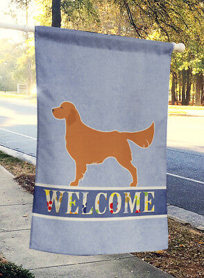 Carolines Treasures  BB5508CHF Golden Retriever Welcome Flag Canvas House Size
