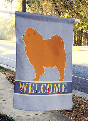 Carolines Treasures  BB5555CHF Chow Chow Welcome Flag Canvas House Size